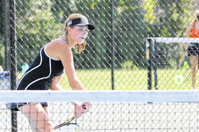 Allie Kees posted a 6-4, 6-1 win at second singles Friday against Mercy-McAuley in an Ohio Tennis Coaches Association team tournament match.