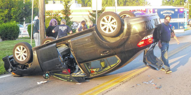 This single-vehicle crash occurred Friday morning.