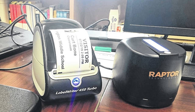 Wilmington schools have installed Raptor, a background checking software, which scans visitors' IDs before they can go beyond a school's main office.