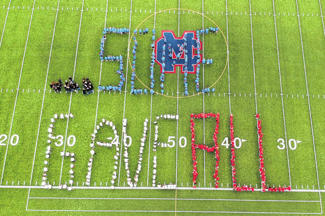 "Each year Clinton-Massie Local Schools takes time to pause and remember those lost in the attacks of 9/11. This year the middle school volunteered to be the group to build a tribute on the football field. The focus this year was on the first responders. The school showed videos and there was talk about the sacrifice of those who ran toward danger rather than away from it. Superintendent Matt Baker spoke about having an ""Others First"" mentality, and how everyone can hold themselves up to that standard at school. The students and staff then spelled out the words ""… SOME GAVE ALL"". This was in remembrance of those first responders who ignored the danger and ran into the buildings over and over again, and those who fought to take back the hijacked planes."