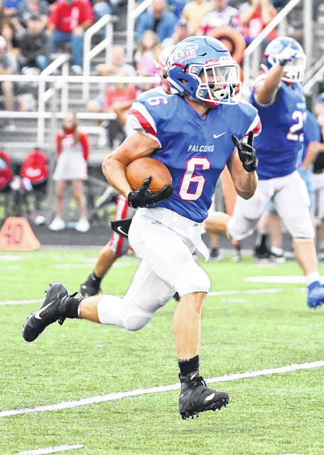 Carson Vanhoose was one of three Clinton-Massie players who rushed for more than 100 yards last week against East Clinton.