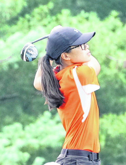Lilly Middleton of Wilmington tied for second in the SBAAC girls golf championship tournament Tuesday and runnerup in the overall individual standings.