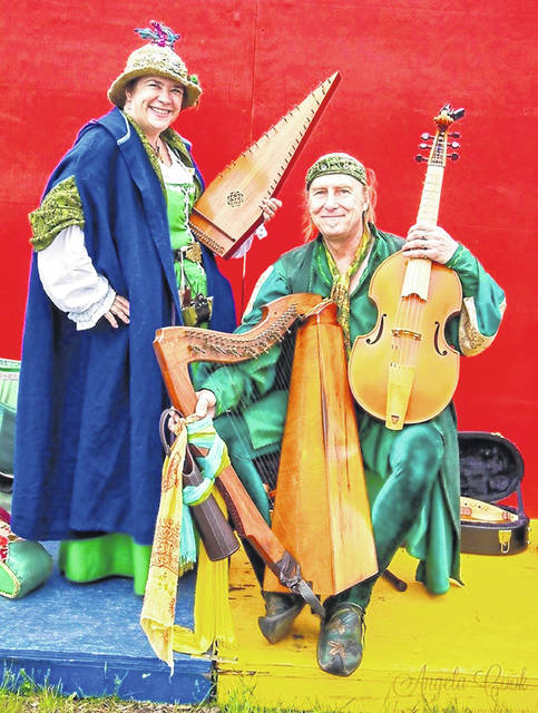 "Jay and Abby Michaels will present ""The Harper and the Minstrel"" at Wilmington College."