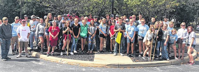Members of East Clinton FFA attended the annual Farm Science Review and cleaned up a road as part of the Adopt-a-Highway program.