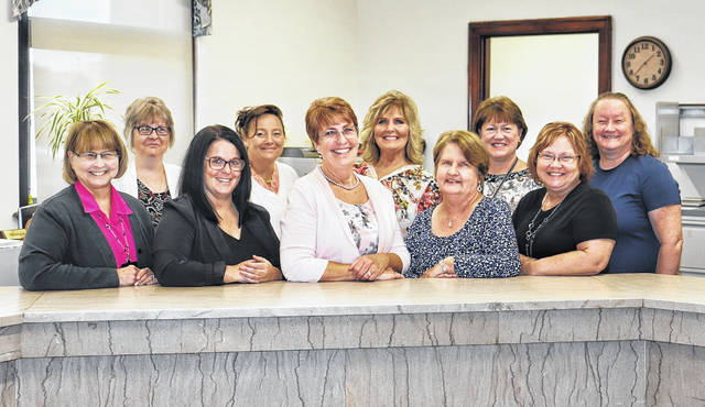 From left are: front row, Joette Haydu, Amanda Gordley, Clerk of Courts Cindy Bailey, Janell Smart, and Tina Ferrence; and, second row, Barbara Roberts, Chasity Goldie, Lorraine Earley, Tanya West, and Debra Lynch.