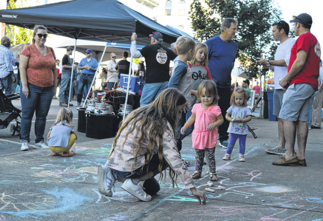 Chalk art was available as a children's activity Saturday at the Craft Beer Rally & Chili Cook-off in downtown Wilmington.