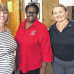 WC women's hoops at Kiwanis; officers, new members inducted