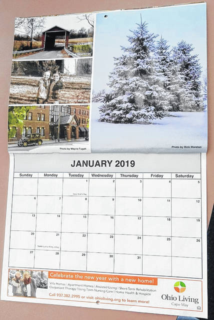 The annual News Journal calendar features local photographers' works as well as area advertisers, such as for January of 2019.