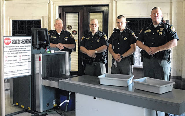 From left are deputies Victor Wright, Samuel Smith and Justin Bennett, and Capt. Justin Drake.
