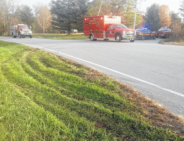 The Wilmington Fire Department and Clinton County Sheriff's deputies responded to a two-vehicle accident at around 9 a.m. Tuesday at the intersection of Cuba and Ireland Roads that resulted in a downed power line, but no reported serious injuries at this time.