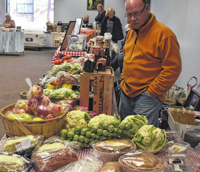 Despite the frosty cold weather, locals still had plenty of fresh produce and more to choose from at the Clinton County Farmers Market on Saturday at the Wilmington city building. The indoor Winter Market continues 9 a.m.-noon on Saturday, Nov. 16, which will be the second Veterans and Active Military Recognition Day at the Market.