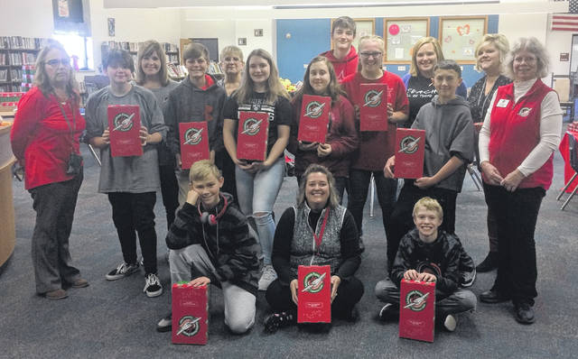 The East Clinton Beta and Science Clubs and their teachers packed 32 shoebox gifts to send around the world for Operation Christmas Child.