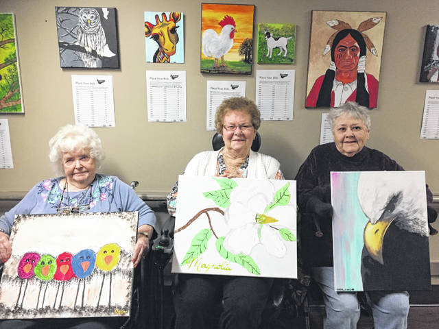 Stop in now to see Continental Manor's artists and bid on their creations.