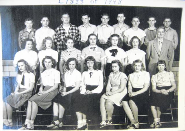 Thanks to Gene Snyder, who told the News Journal that a great group effort determined that the Oct. 31 Throwback Thursday photo was of the Martinsville High School Class of 1948 in costume for their October 1946 junior class play. Today's photo is also of the Martinsville High School Class of 1948. Can you tell us more? Share it at info@wnewsj.com. The photo is courtesy of the Clinton County Historical Society. Like this image? Reproduction copies of this photo are available by calling the History Center. For more info, visit www.clintoncountyhistory.org; follow them on Facebook @ClintonCountyHistory; or call 937-382-4684.