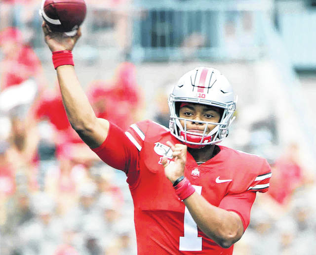 Ohio State quarterback Justin Fields committed to Penn State out of high school then switched and went to Georgia before transferring to OSU.