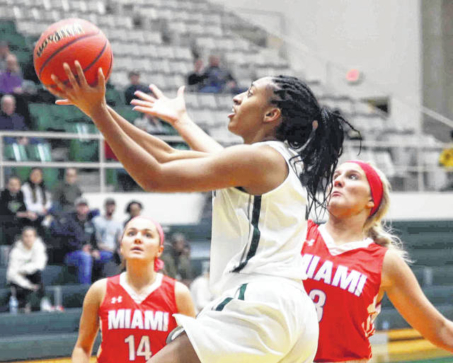Kennedy Lewis had six points for Wilmington in its 81-75 loss to Denison Saturday in the championship game of the 28th annual Damon's/Hampton Inn Tip-Off Tournament at Fred Raizk Arena.