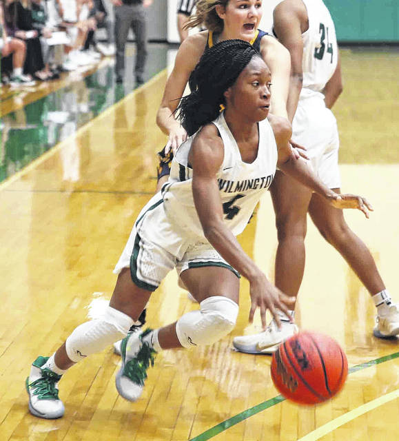 Wilmington's Zahrya Bailey had eight points off the bench for WC Friday night in a loss to Franklin in the Fred Raizk Memorial Tournament.