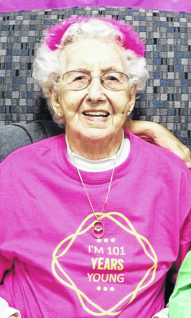 On Thursday, Oct. 31 a birthday party was held for Stella Boring of Wilmington who turned 101 that day. The party was held at the First Christian Church and drew family and friends from as far away as Indianapolis, Indiana and Boston, Massachusetts.