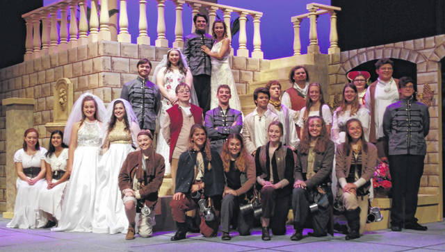 "The cast of Shakespeare's ""Much Ado About Nothing"" at Wilmington High School."