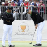 Captain Woods sends himself out in 1st Presidents Cup match