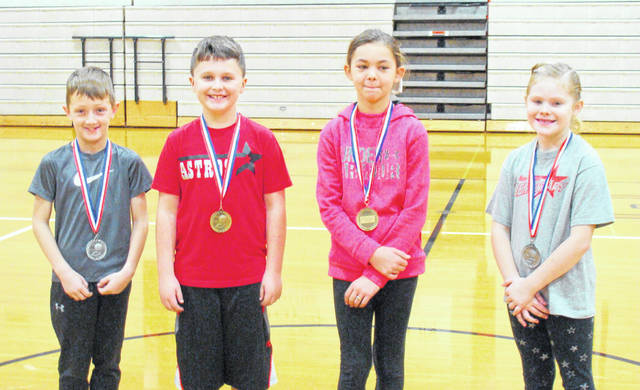 Eight- and nine-year olds, left to right, Joseph Moore, Jackson Earley, Addison McCulley, Bella Mahanes.