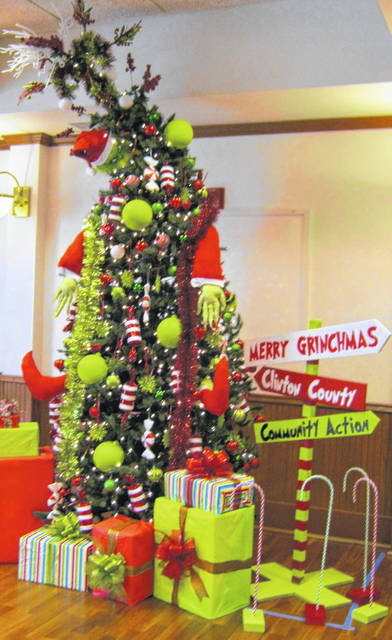 Clinton County Community Action Program, Inc. won first place in the Trees of Hope display — which benefits Hope House — held at the Clinton County Historical Society.