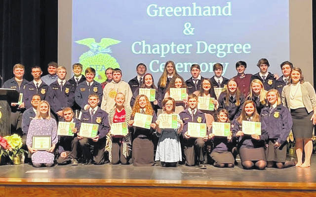 The FFA Greenhand Degree recipients.