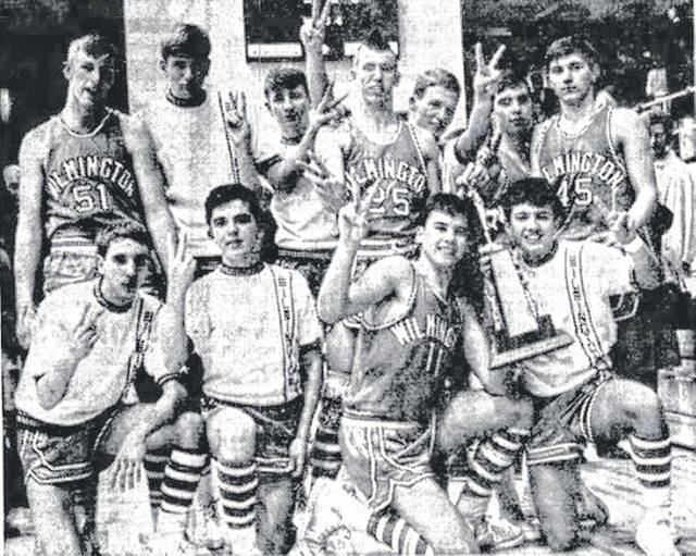 This was the photo on Page 1 of the Dec. 24, 1966 News Journal as Wilmington High School celebrated wining the first city-county championship trophy at Hermann Court. From left are: front, Roger Vaughan, Gary Holdren, John Petty and Tim Rudduck; standing are Chuck Kibbey, Tim Parks, Gordon Rulon, DeWayne Holstein, Dan Burrill, Rick Kneisel and Bill Peelle. Can you tell us more? Share it at info@wnewsj.com.