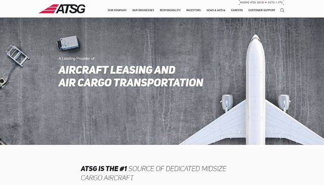 The new website provides visitors with a comprehensive overview of the ATSG family of companies.