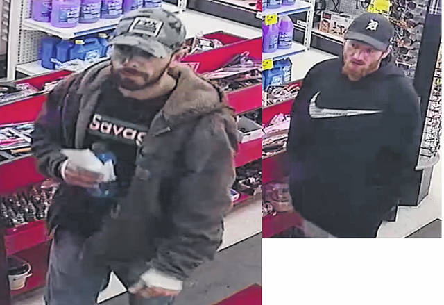 "The Wilmington Police Department is seeking the community's help in identifying a man in relation to a Dec. 5 theft at the local Ace Hardware. In the photo, the man at left (with the ""savage"" shirt) has been identified. The man at right (with the Nike shirt and black ball cap) has not yet been identified. If you have any information, please contact WPD."