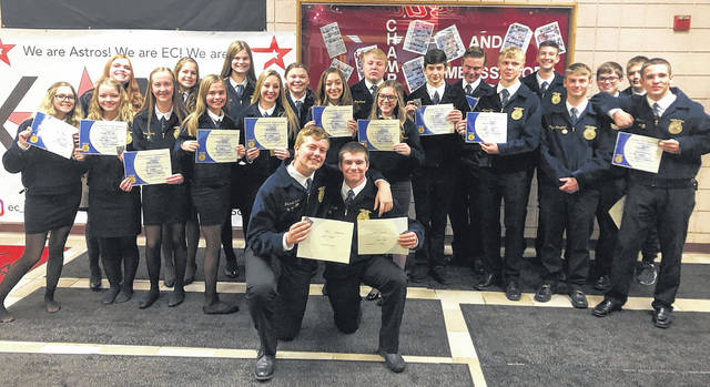 Many EC FFA members earned their Chapter Degrees.