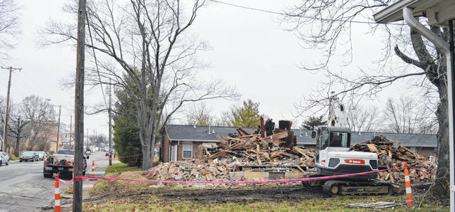 The razing of this house is part of ongoing work by the Clinton County Land Bank.