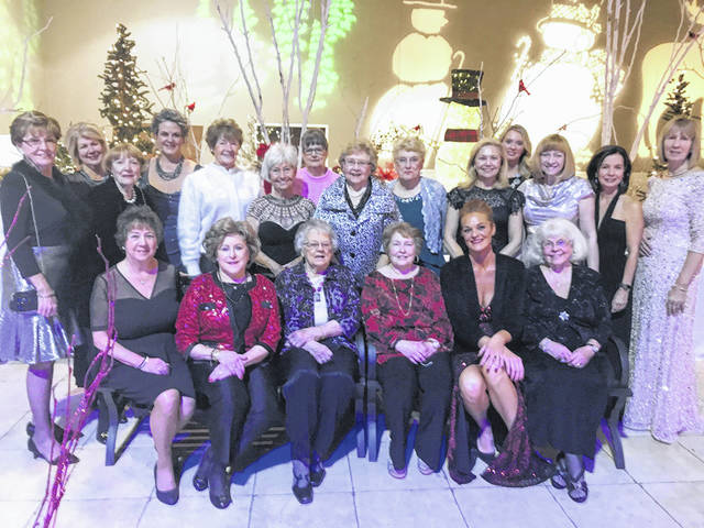 The Holiday Ball Committee, from left, are, back row, Susan Kocher, Patti Cook, Carolyn Matthews, Jennifer Spires, Betty Lou Germann, Sandy Pidgeon, Mary Camp, Frances Sharp, Nancy Bernard,Kathy Havey, Bobbi Schlaegel, Pat Richardson, Louanne Blumberg, and Connie Mason; and, front row, Cindy Petrich, Ann Johnson, Eva Botts, Sharon Johnson, Staci Close, and Jennifer Hollon. Members of the Auction Committee who are not shown include Linda Custis, Gretchen James, Joann Chamberlin, Margo Lewis, Barb Davis, Jane Bosworth, Regina Carey, and Lois Allen.