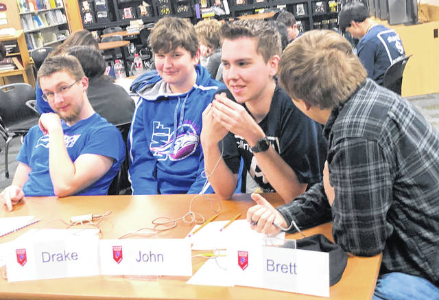 From left are Clinton-Massie's Alex Shelton, Drake Bennett, John Gehringer and Brett Bradley.