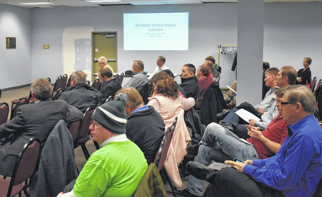 People packed the Moyer Community Room in the Municipal Building two weeks ago for a public meeting on the Rombach Avenue 2020 project.