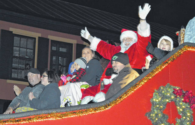 The annual event includes the nighttime illuminated parade through downtown.