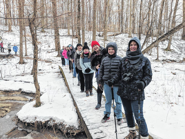 Hikers enjoyed last year's inaugural event at Cowan Lake State Park.