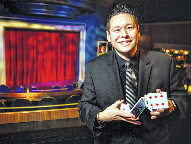 Magician Matthew David Stanley returns to the Murphy Theatre for both a workshop and the show.
