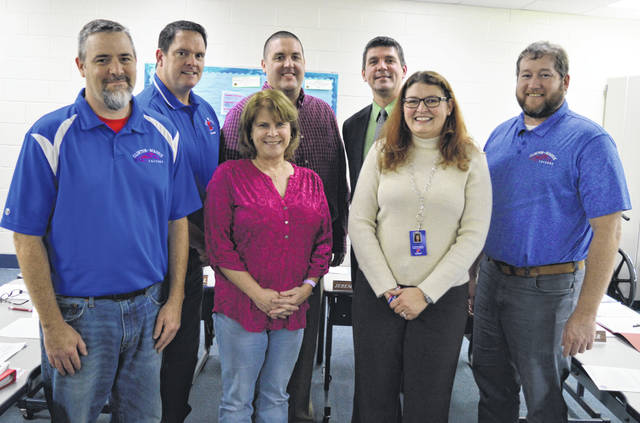 The 2020 Clinton-Massie Local Schools Board of Education includes two newly elected members. In the front row from left are board member Mike Goodall, newly elected member Kathleen Norman, Treasurer Carrie Bir and member Jeremy Lamb; and in the back row are from left member Andy Avery, newly elected member Mike Gorman, and Supt. Matt Baker.