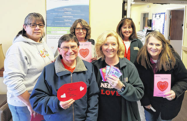 Clinton County Community Action Program staff visited Wilmington Nursing & Rehabilitation on Valentine's Day to provide Valentine's cards to residents.