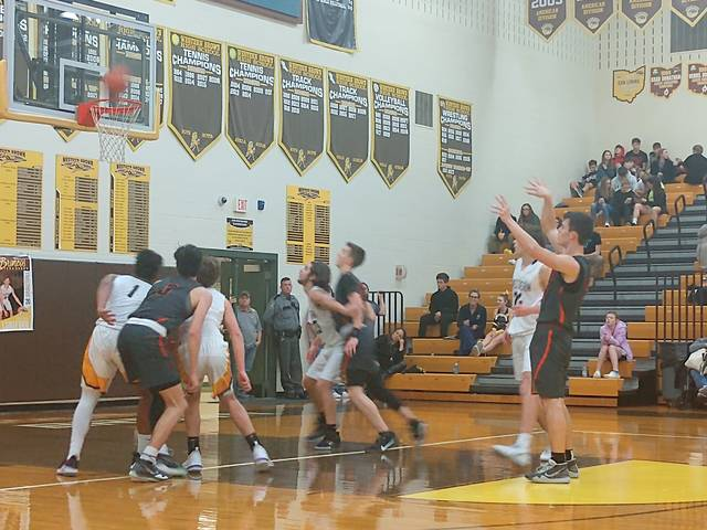 Chris Custis with a free throw for Wilmington during Tuesday night's game at Western Brown. (Deanna Liermann Photo)