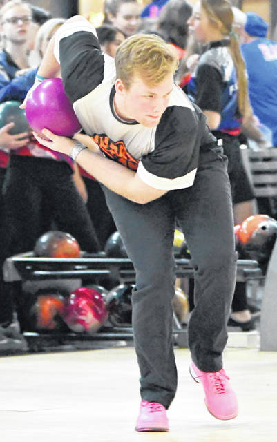 Grant Pickard bowled the second 300 game for Wilmington this season on Thursday at the Division I Southwest District tournament at Beaver-Vu Lanes.
