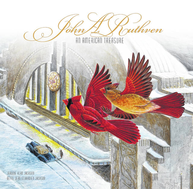 Here is the cover of Orange Frazer's 2019 book about John Ruthven, the internationally known Cincinnati wildlife artist.