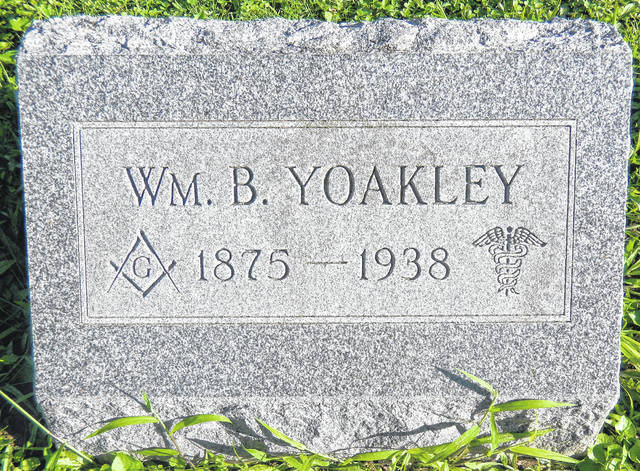 Dr. Yoakley is buried in Sugar Grove Cemetery.