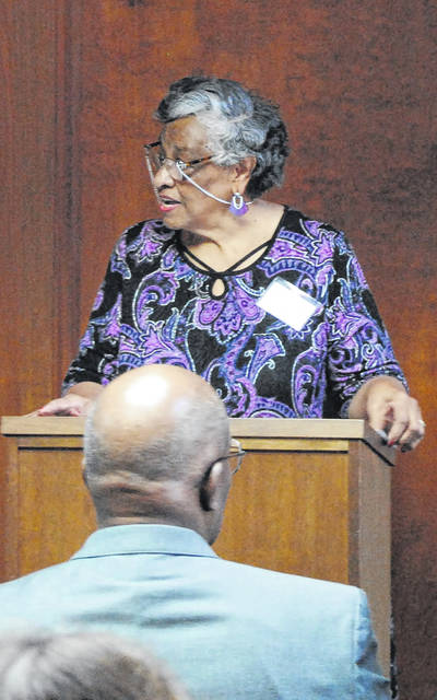 African American Awareness Research Council President Arlene Cole served as the mistress of ceremonies at the program on Saturday.