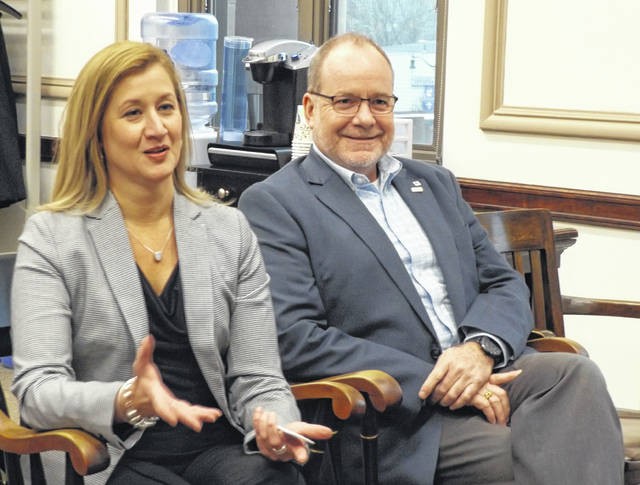 From left are new Clinton County Economic Development Director Jennifer Ekey and Clinton County Port Authority Executive Director Dan Evers.