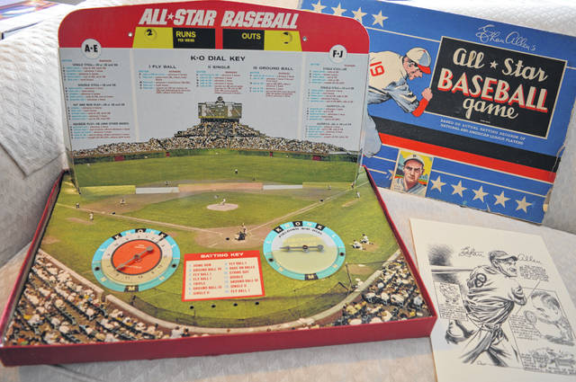 Wilmingtonian Ron Rembert has more than one edition of the baseball board game created by Ethan Allen, who grew up in Cincinnati and was a major league outfielder, college coach, author of multiple books, and maker of instructional films.