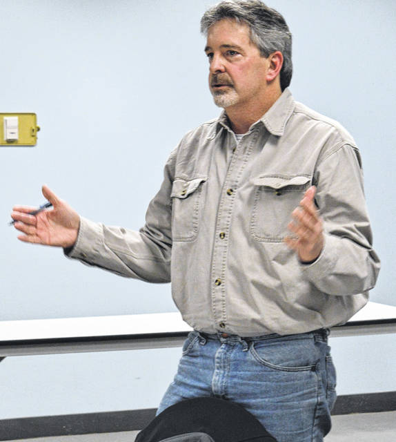 Mark Tipton raises questions about the proposed subdivision.