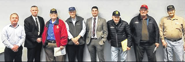 Clinton County veterans met with an outreach staffer in Sen. Brown's office who specializes in veterans' affairs.