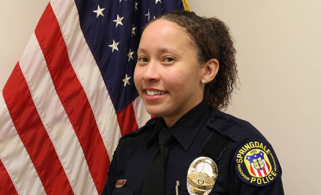 Springdale PoliceOfficer Kaia Grant is seen in an undated photo provided by the Springdale, Ohio Police Department. Officer Grant was killed Saturday, March 21, 2020 when a suspect being pursued by officers from another police agency crashed into her police  car. (Springdale Police Departmrnt via AP)